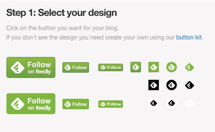 botones de feedly para insertar en tu blog