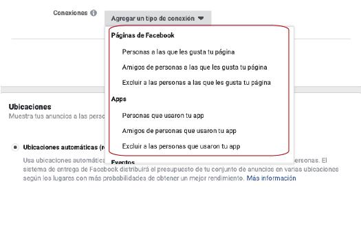 publicos de facebook basado en las conexiones