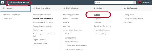 crear publico personalizado en el administrador de anuncios de facebook