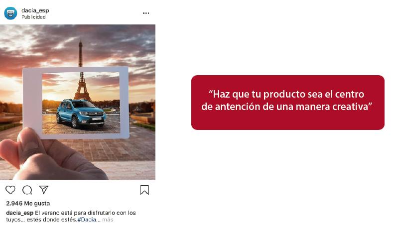 anuncio inspirador de instagram Dacia