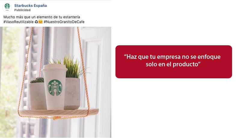 anuncio creativo en instagram de starbucks