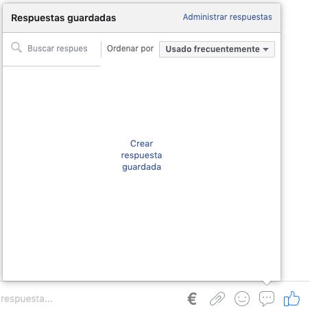 botón de administrar respuestas automáticas en facebook messenger