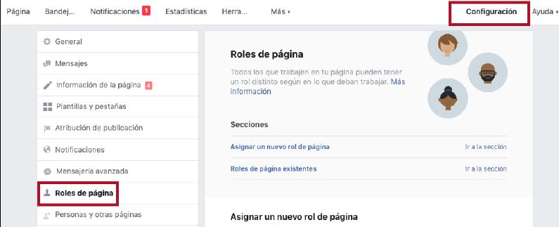 añadir roles a pagina de facebook de empresa