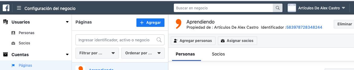 como saber el identificador de una pagina de facebook