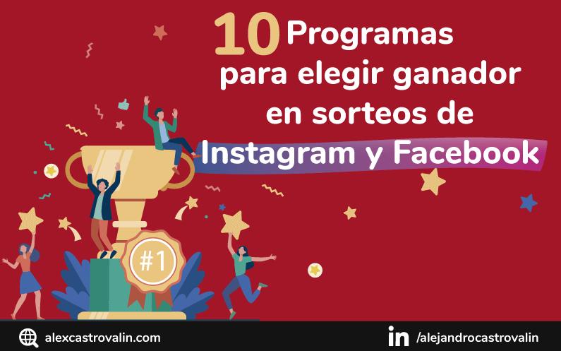 10 Programas para elegir ganador sorteo en Instagram y Facebook GRATIS