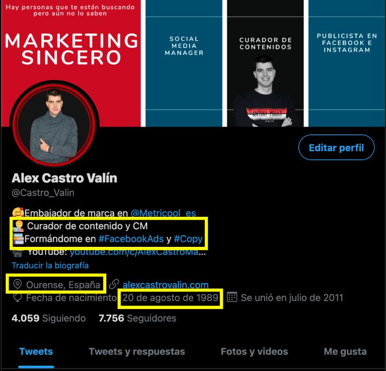 datos de cuentas de usuario en twitter para crear un buyer persona